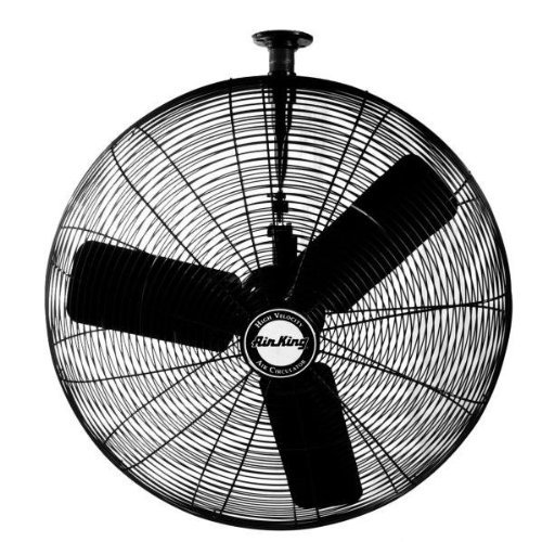 Air King 9335 30-Inch 1/4-Horsepower Industrial Grade Oscillating Ceiling Mount Fan with 7,400-CFM, Black Finish by Air King