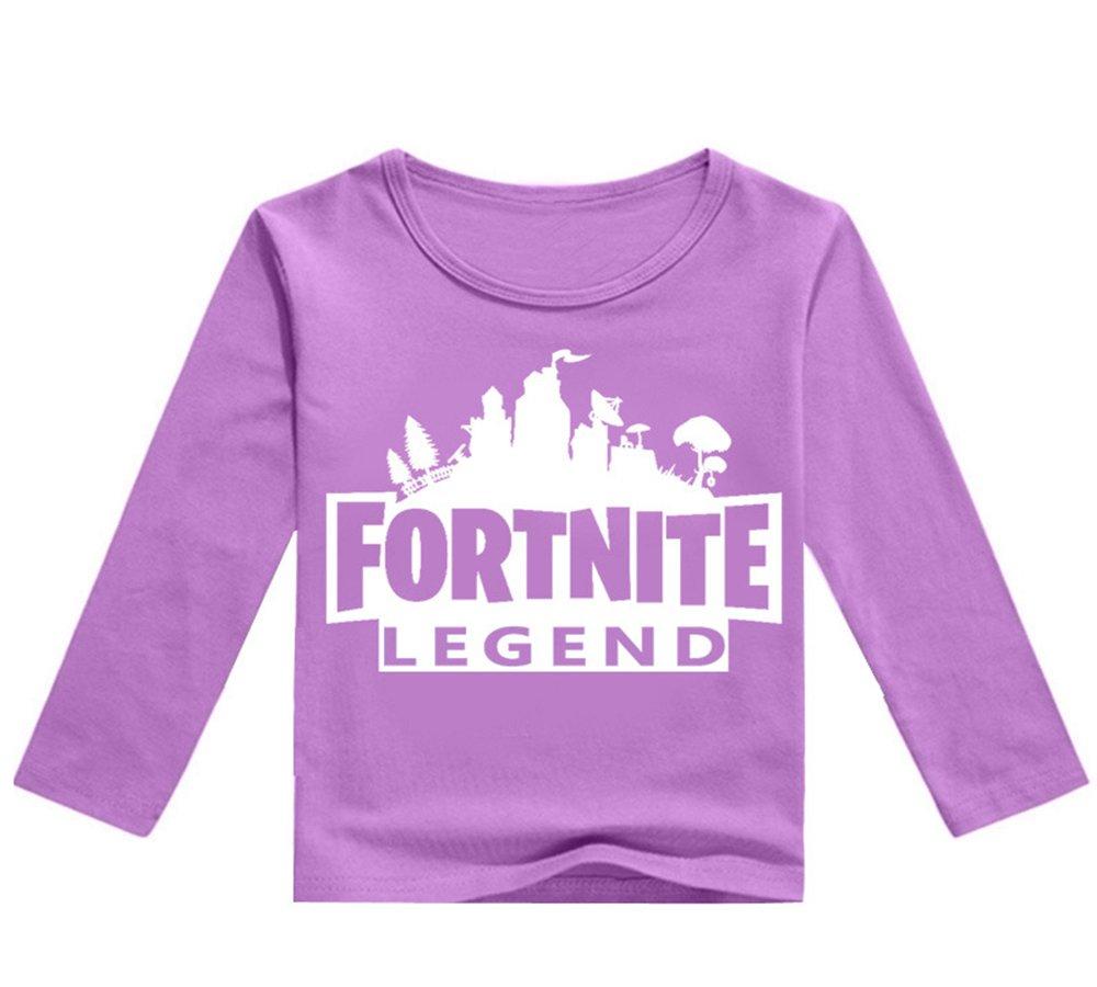 Tayaho Popolare Fortnite Bambini Maglietta a Manica Lunga Unisex Girocollo Casual T-Shirts Stampa Camicetta Bluse Loose Tops per Ragazzo e Ragazza