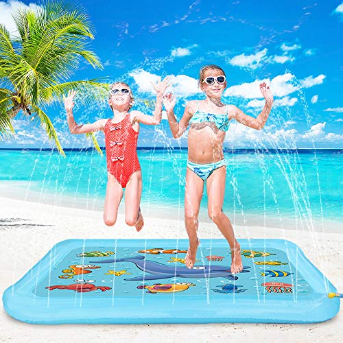 - Blasland Splash Pad Sprinkle and Splash Play Mat,67