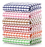 LAZI Kitchen Dish Towels, 16 Inch x 25 Inch Bulk