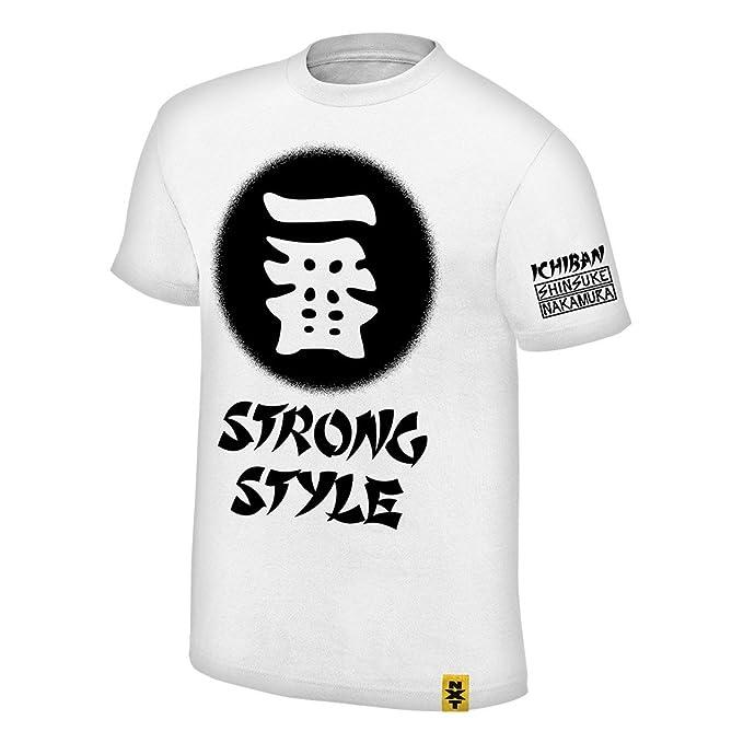 WWE - Camiseta de Tirantes - para Hombre Blanco Blanco Small