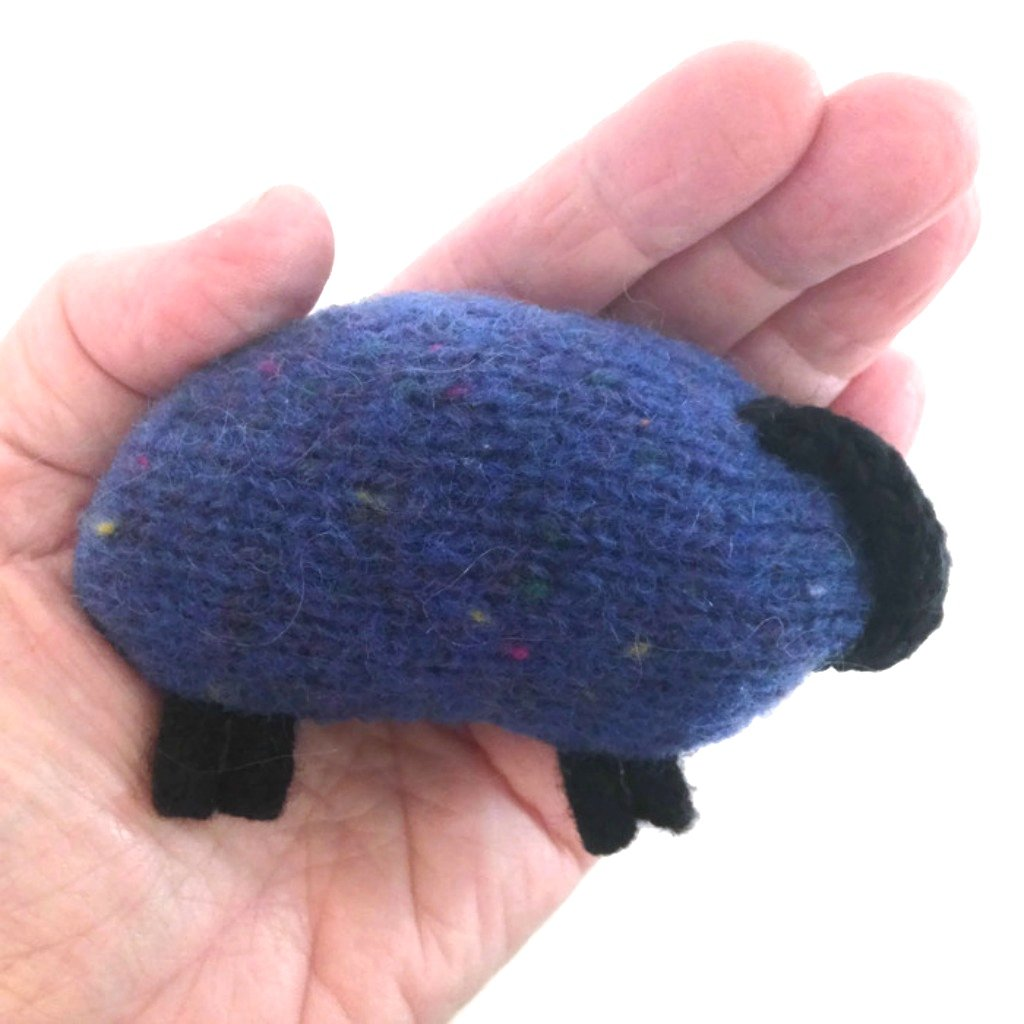 Hand and Pocket Warmers Knitted Felted Sheep Rose Wool Set of 2