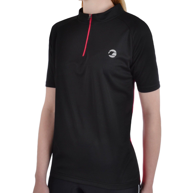 Tenn Ladies Active Short Sleeve Cycling Jersey - Black/Pink - 12
