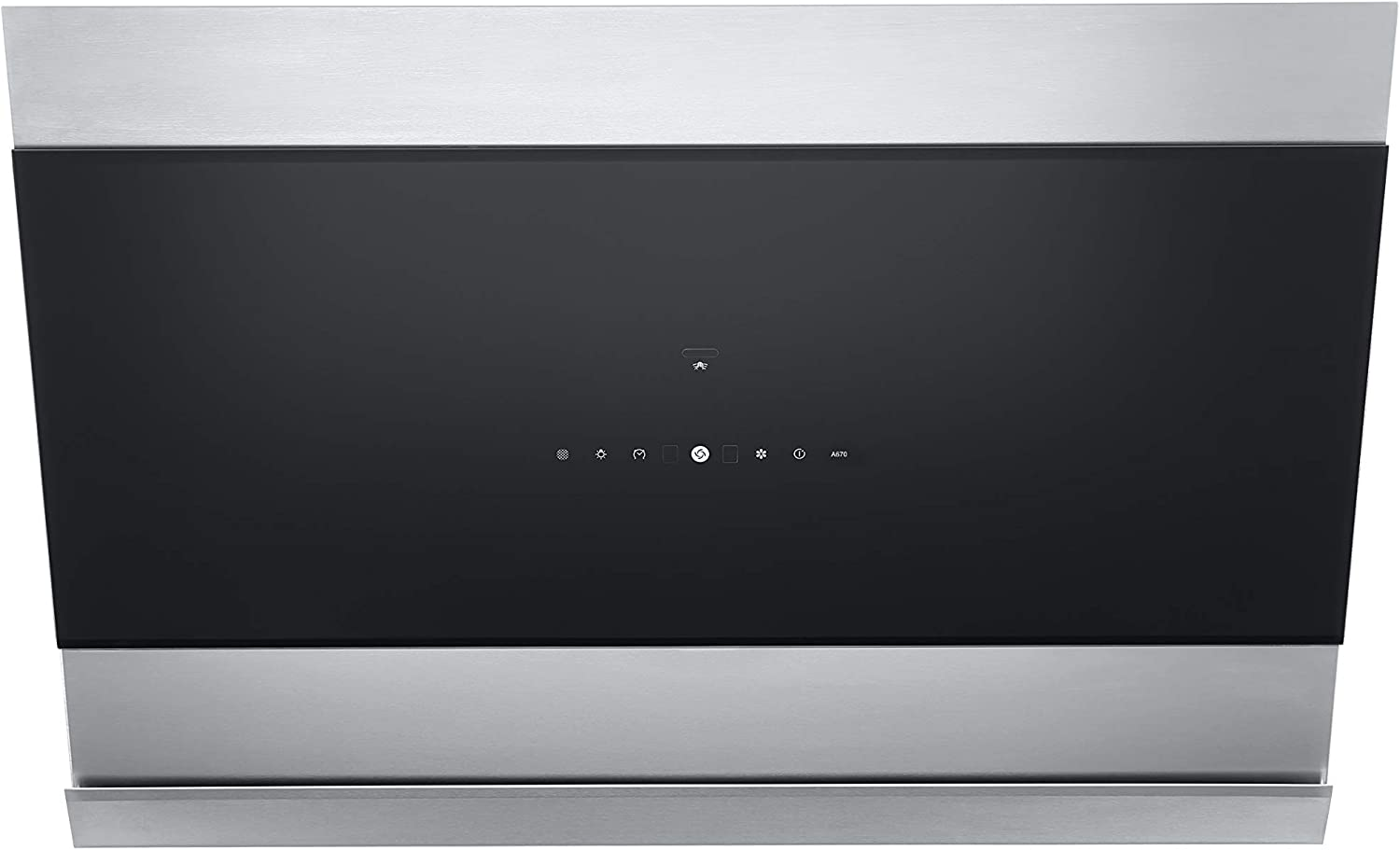 """ROBAM A670 36"""" Range Hood   Contemporary Slanted Wall Mount Kitchen Vent Hood   Powerful Motor Rated at 430PA with 57dB Noise Level   Convenient Hands-Off Operation   Dishwasher-safe baffle, LED Lamps"""