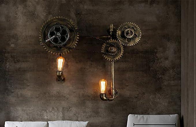 Lampade da parete retro lampada da parete loft luce tubo di acqua