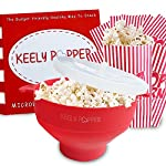 Microwave Popcorn Popper Maker Bowl is Microwavable for Pop Corn with Lid and 10 Bonus Popcorn Bags 100% FDA Approved Food-Grade Silicone Oil-Free Snack