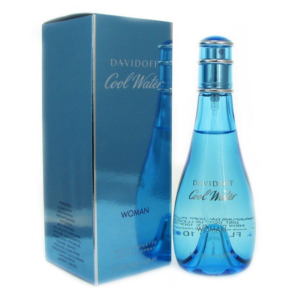 Davidoff Cool Water Eau De Toilette Spray for Women, 3.4 Ounce
