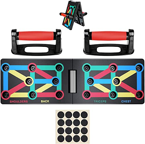 Push Up Board System, 12-in-1 Body Building Exercise Tools Workout Push-up Stands, Portable Bracket Board System, for Men Women Home Fitness Training