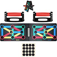 Push Up Board System, 12-in-1 Body Building Exercise Tools WorkoutPush-up Stands, Portable Bracket Board System, for Men Women Home Fitness Training