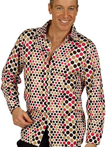 Camisa disco de los años 70 - camisa de hombre, complemento de disfraz retro, para fiesta setentera, para carnaval o fiestas de disfraces - 50/52: Amazon.es: Juguetes y juegos