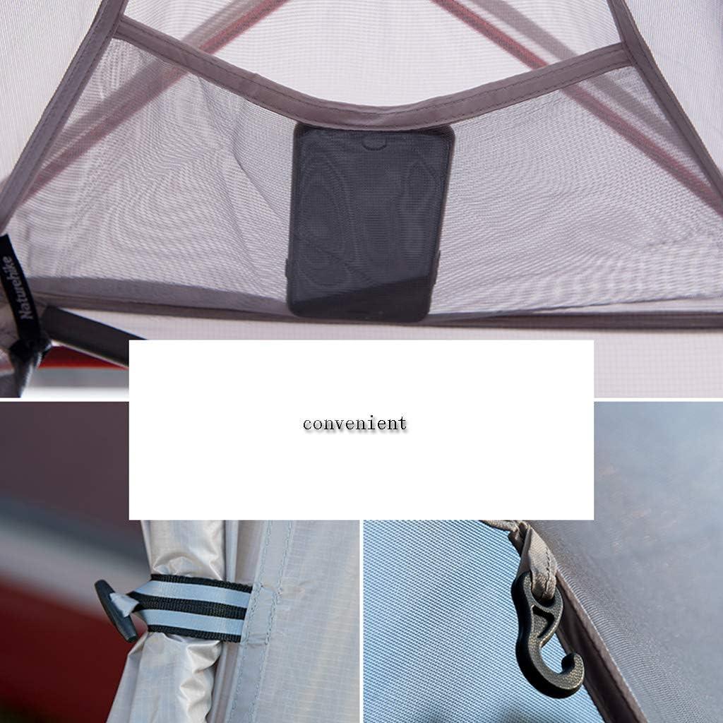 YILANJUN Tente De Camping Extérieure Portable, pour Randonnée, Pique-Nique, Tente pour Simple/Double/Triple (3 Couleurs: Orange, Vert, Gris) Green-1 Person