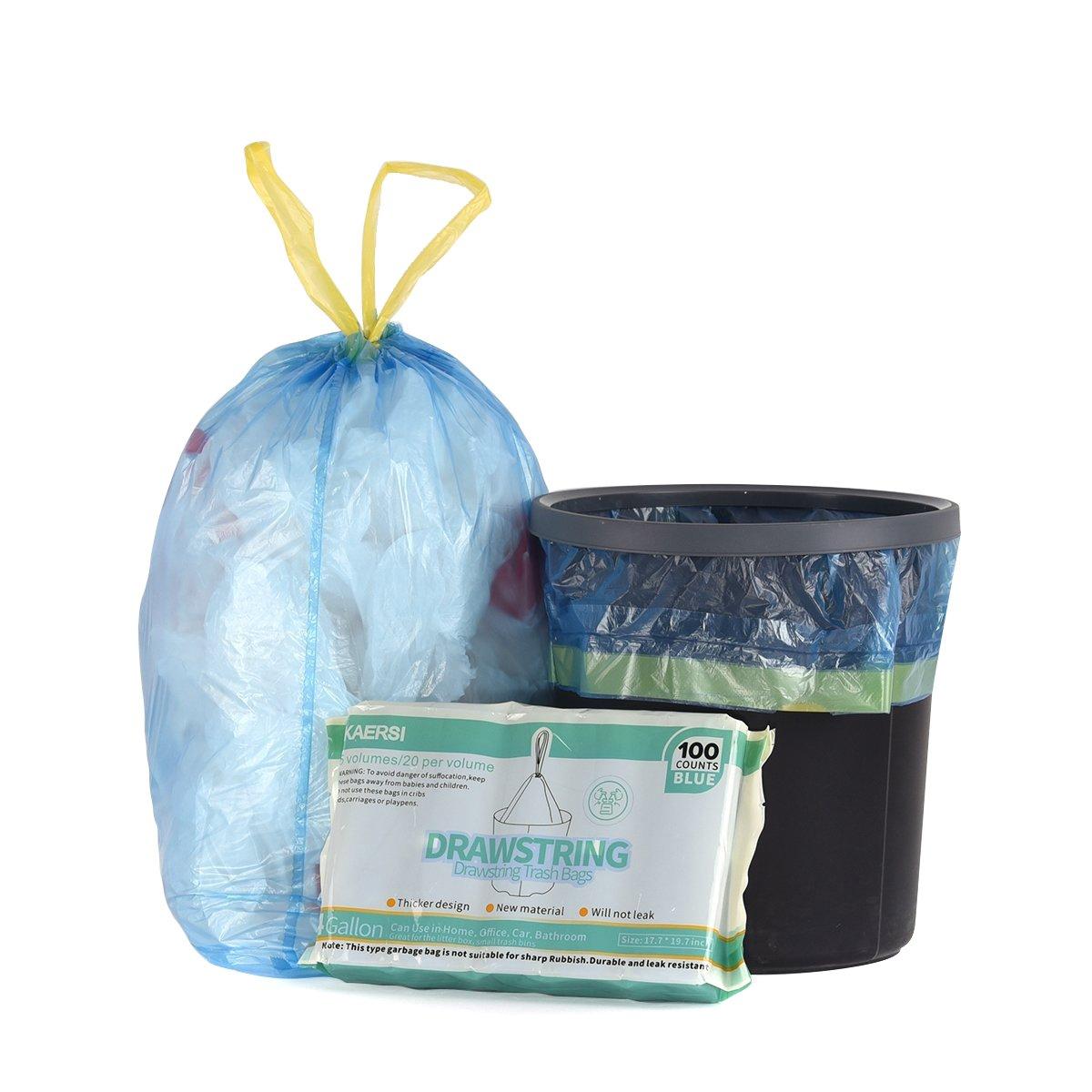 Amazon.com: KAERSI Small Drawstring Trash Bags for Bathroom, Kitchen ...
