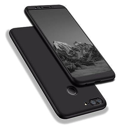 WindCase Huawei Honor 9 Lite Funda, 360 Grados Cuerpo Completo Protección 3 en 1 Duro PC Funda Anti-rasguños Carcasa para Huawei Honor 9 Lite Negro + ...