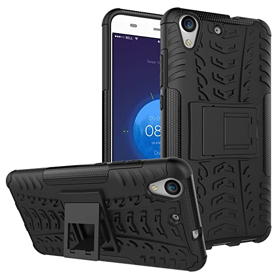 new style 70e0a 80e86 Huawei Honor 5A Shockproof Case, Huawei Y6 II Hybrid Case, Dual Layer  Protection Shockproof Hybrid Rugged Case Hard Shell Cover with Kickstand  for ...