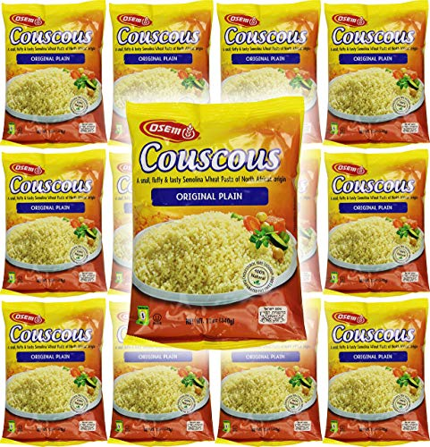 Osem Couscous, Original Plain, 12 Ounce (Pack of 12)