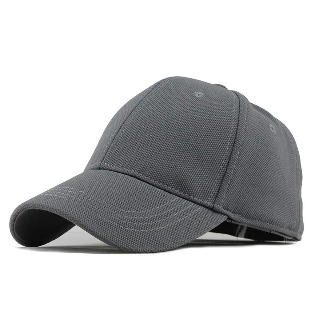BSGSH Baseball Caps Unisex Dad Hat Cap Man Women Adjustable Plain Summer Hat Outdoor Cap (Gray)