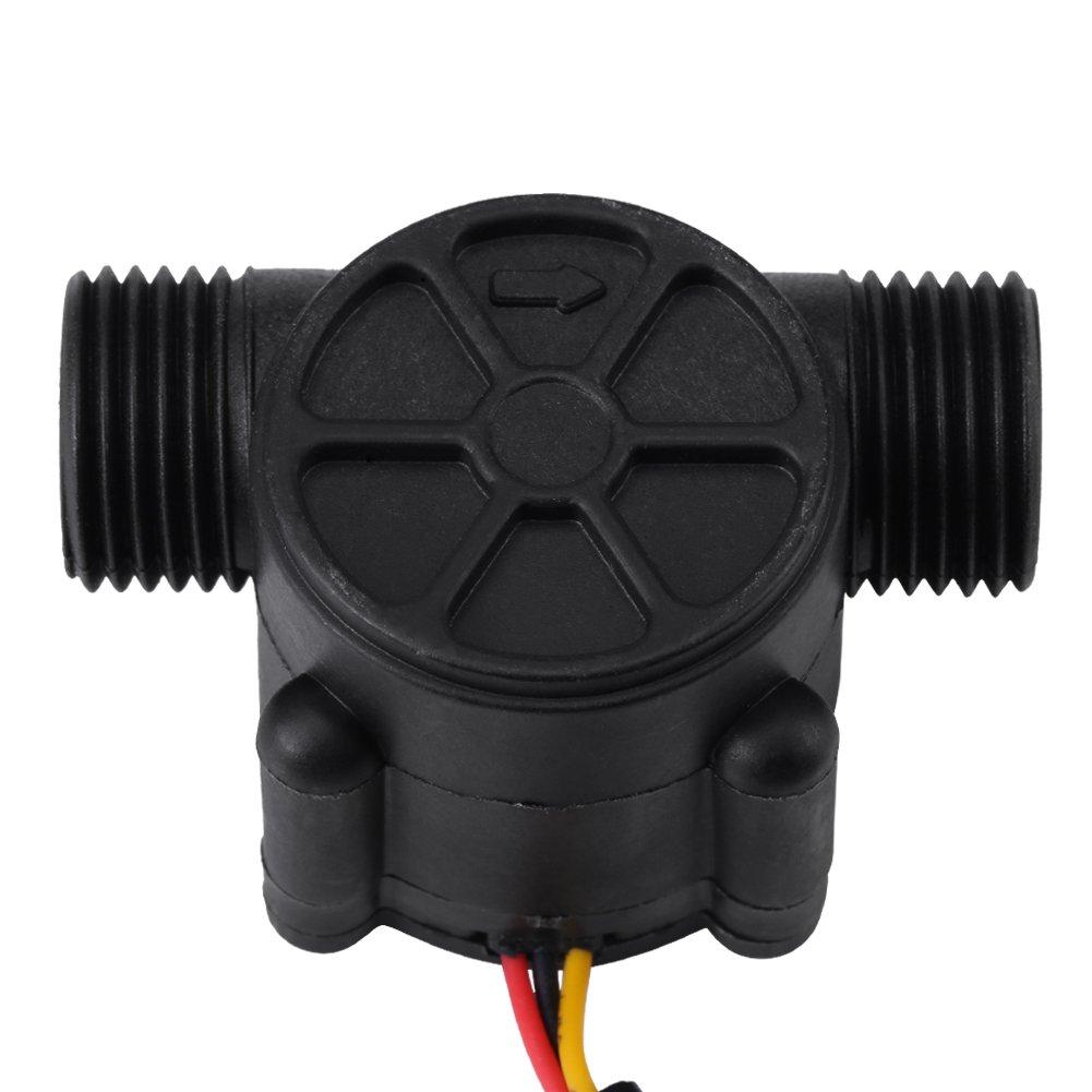 4 1-30L Capteur de d/ébitm/ètre /à effet Hall /à d/ébit variable capteur de d/ébit deau /à filetage haute pr/écision G3 min noir D/ébit deau Capteur