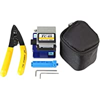 FTTH Kit de Herramientas de 3 en 1 con FC-6S Fibra Cleaver y Stripper CFS-2