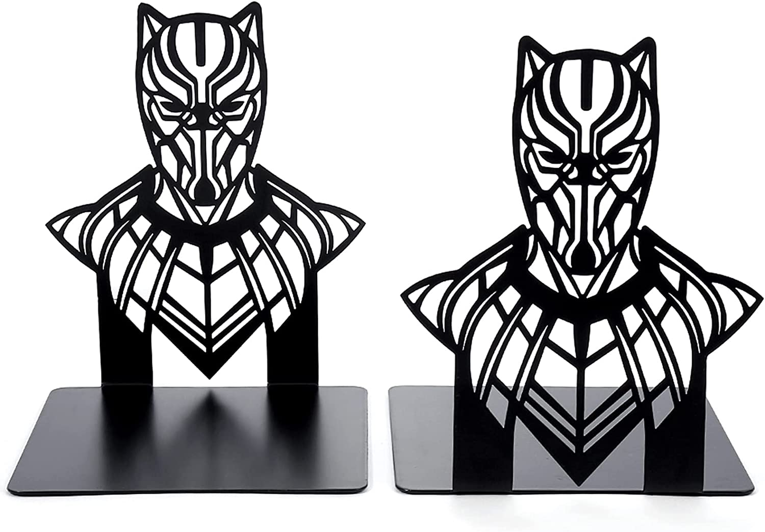 Metal Bookend, Superheros Decorative Non Skid Book Ends Stand, Book Stopper for Home/ Office Decor/ Shelves Bookends, Metal Bookends for Shelves