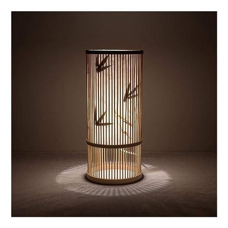 TZZ Lámpara de Mesa Hecha a Mano de bambú Que Teje Retro ...