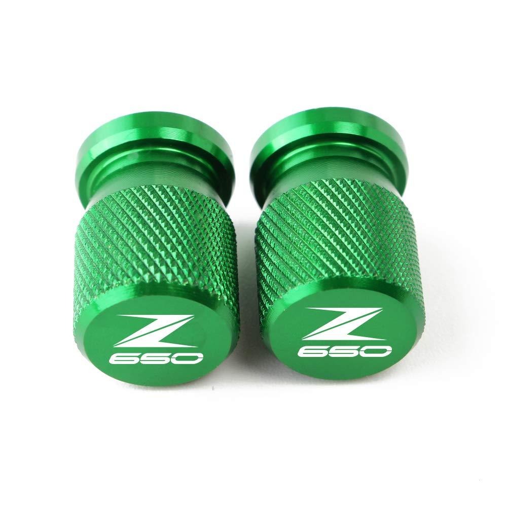 Lot de 2 Capuchon Bouchon de Valve dair Cache-poussi/ère Aluminium Motos Soupape de Roue Couvercles pour Kawasaki Z650 Z750 Z800 Z900 Z1000 ZX6R ZX10R ZX14R