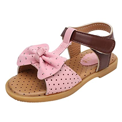 84f7eb01e1ce9 Amazon.com: Toponly Infant Baby Girls Cute Sandals Rubber Soft Sole ...