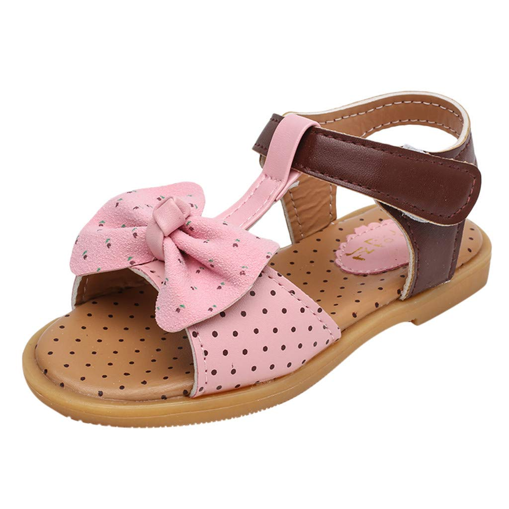 Cloudro Kids Baby Girls Beach Sandals Butterfly-Knot Princess Shoes for 1-7 Years