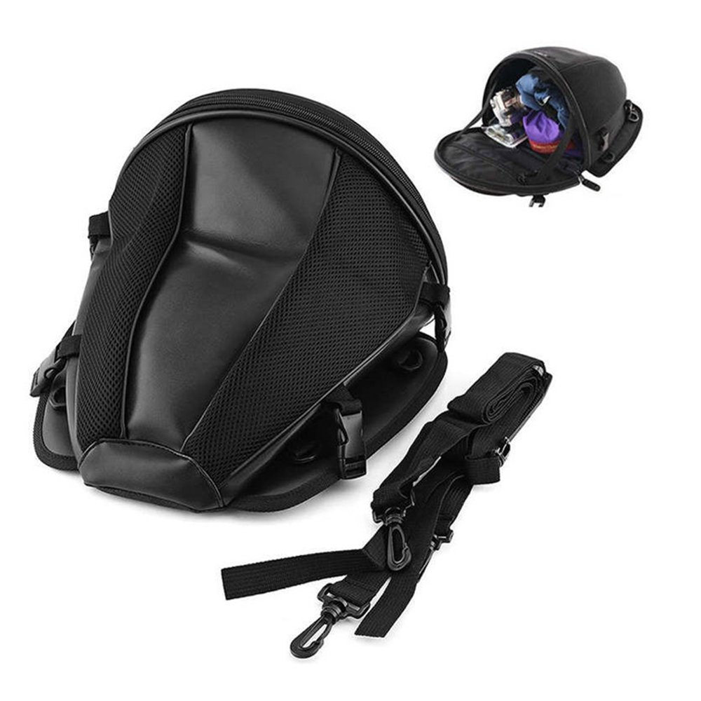 Bolsas de tanque de la motocicleta A Prueba de agua Multifuncional Asiento trasero Bolsa de sillín Nylon Bolsa de viaje Tail de equipaje Negro (Largo x Ancho x Alto) 11.42 '× 11.42' × 8.27 ' AUTLY