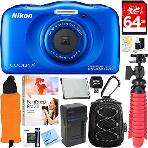 nikon-coolpix-w100-132mp-waterproof-digital-camera-blue-64gb-class-10-uhs-1-sdxc-memory-card-accesso