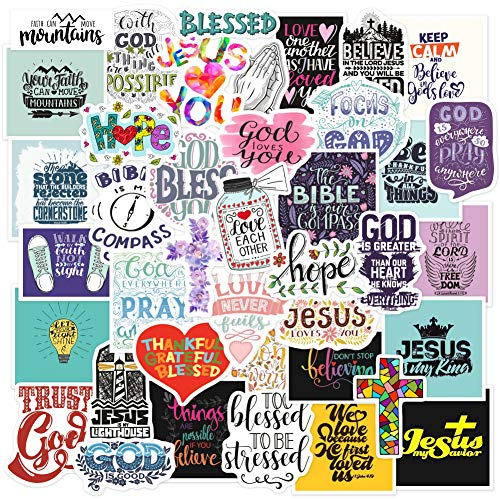 🥇 Christian Stickers Big 40-Pack. Religious