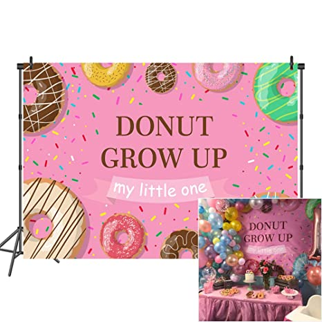 Mehofoto Donut Birthday Backdrop Grow Up Party Backdrops For 7x5 Sprinkles Background