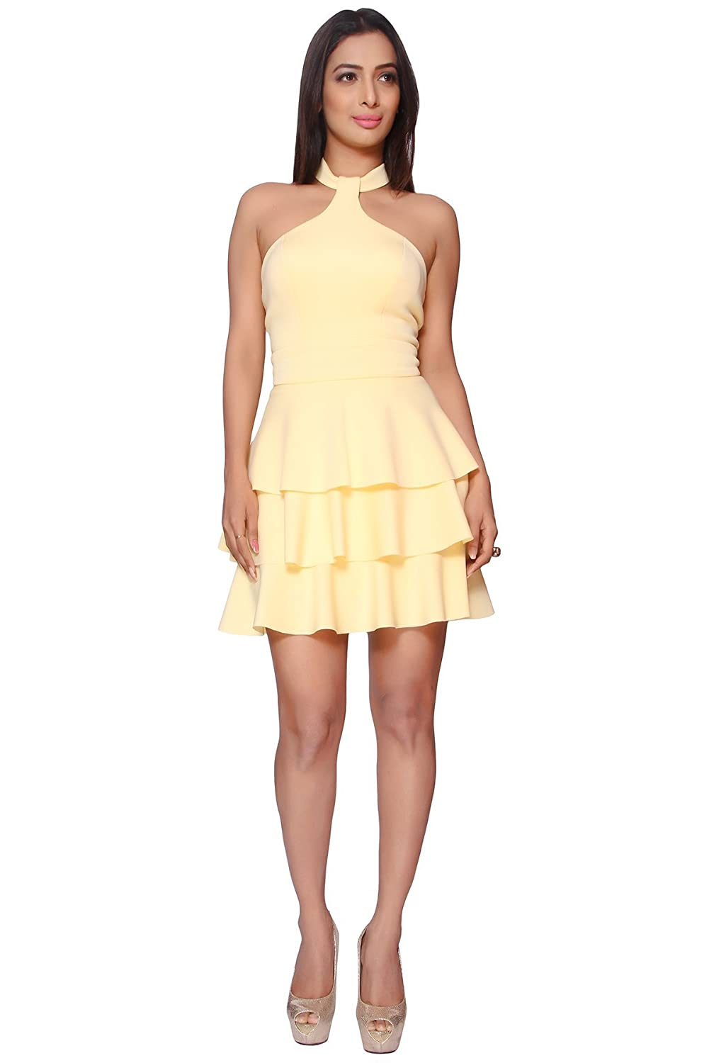 Three Layered Knitted Poly Scuba Party Dress