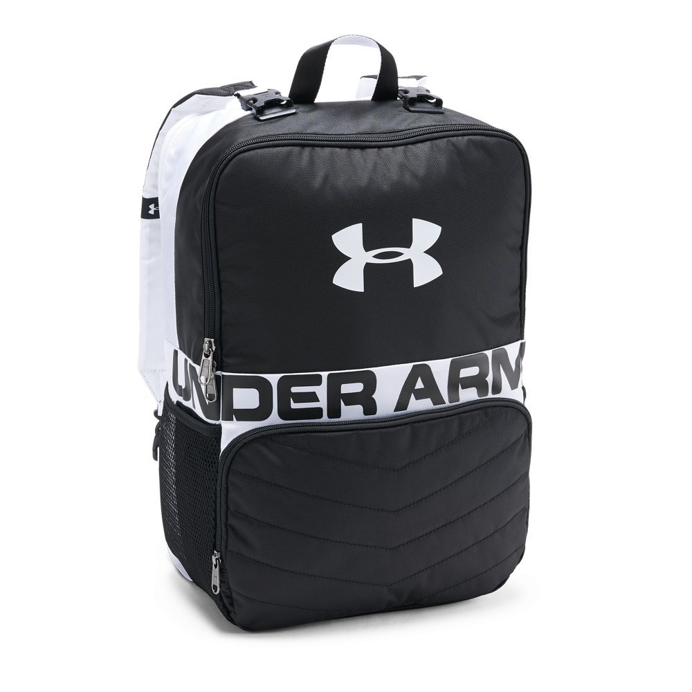 Under Armour Unisex Kids' Change-Up Backpack, Black (001)/White, One Size by Under Armour