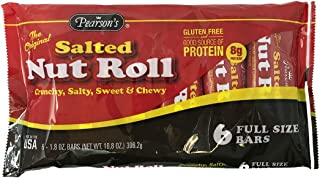 product image for Pearson's Salted Nut Roll | Loaded With Crunchy Roasted Peanuts, Golden Caramel, and Creamy Nougat (Regular Size (6 Candy Bars))