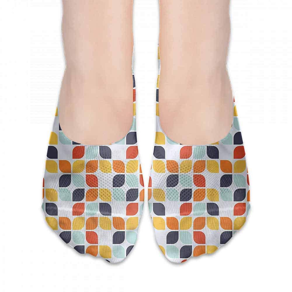 Korean Style Women Socks Geometric,Memphis Style Triangles,socks women low cut black