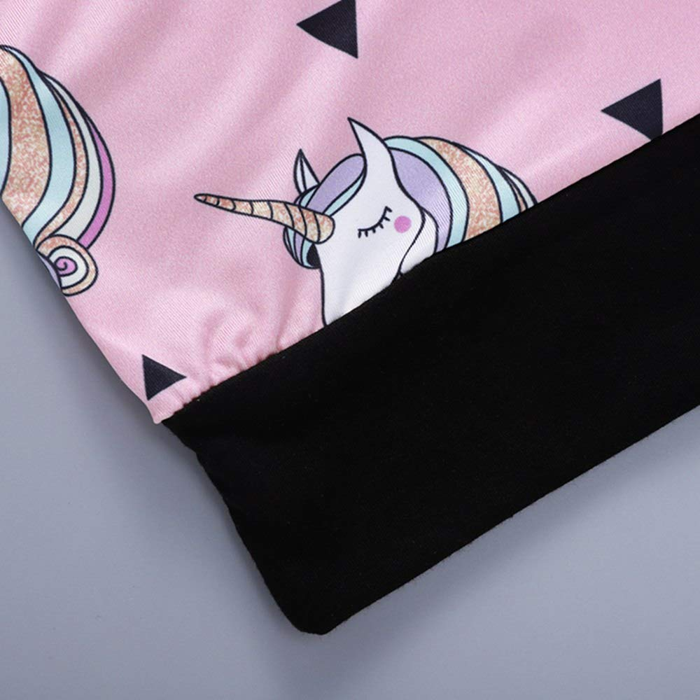 Toddler Baby Girls Unicorn Tops Hoodies Cartoon Outwear Sweatsuit Baby Infant Kids 0-4Y