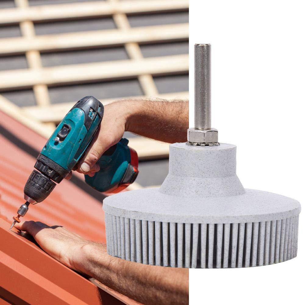 Bristle Brush Disc 3 Inch Rubber Abrasive Brush Polishing Grinding Wheel for Burr Rust Removal White