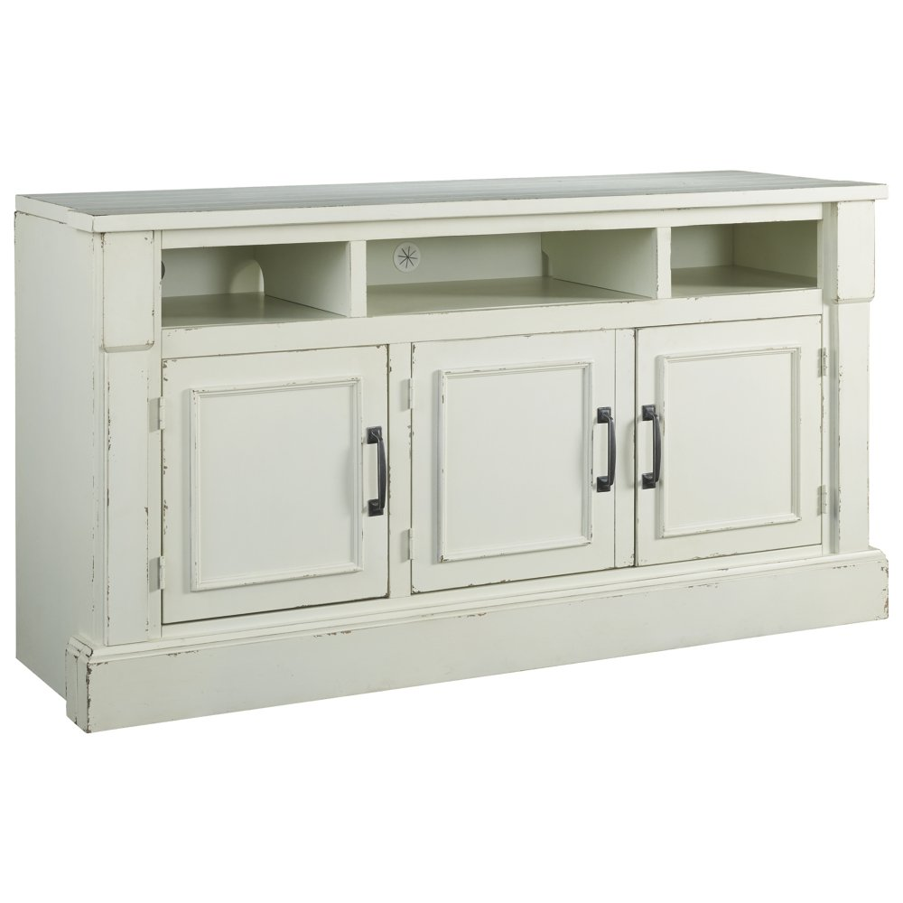 Signature Design by Ashley Blinton TV Stand Antique White