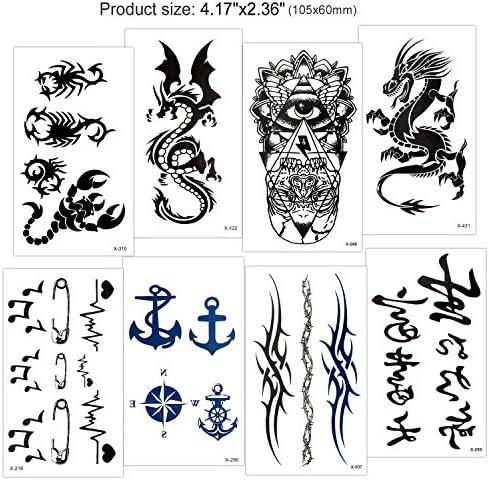 Tatuajes temporales para adultos hombre Mujer Niños (18 Hojas ...