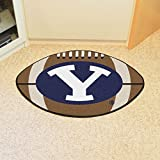 """Fan Mats 3276 BYU - Brigham Young University Cougars 22"""" x 35"""" Football Shaped Area Rug"""