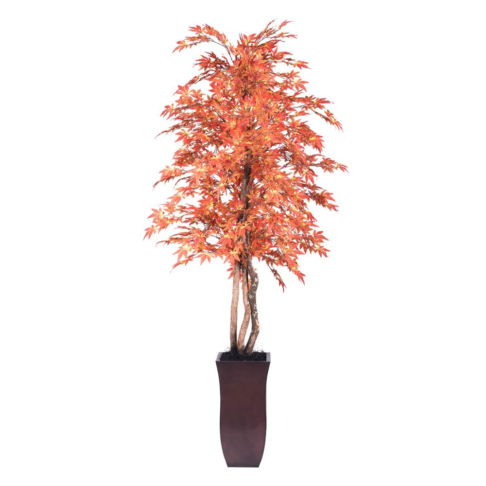 Vickerman TDX3760-07 Artificial Orange Maple Deluxe Tree, 6'