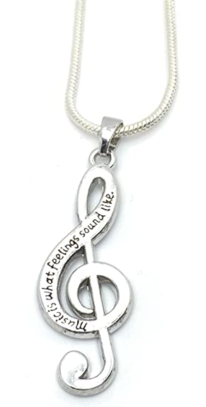 Lovely musical note necklace music is what feelings sound like lovely musical note necklace music is what feelings sound like amazon jewellery aloadofball Choice Image