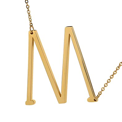 mas bajo precio super calidad última selección Daesar Collar Acero Inoxidable Colgante Inicial Collar ...