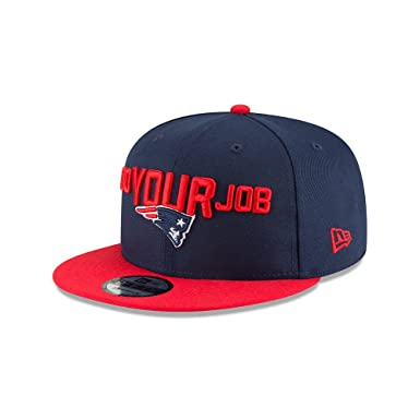 8c23d68ff19 Image Unavailable. Image not available for. Color  New Era New England  Patriots 2018 NFL Draft Spotlight Snapback 9Fifty Adjustable Hat