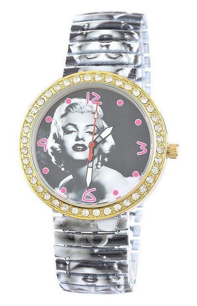 Reloj Pulsera Mujer de Cuarzo elástico Estampado Marilyn Monroe ...