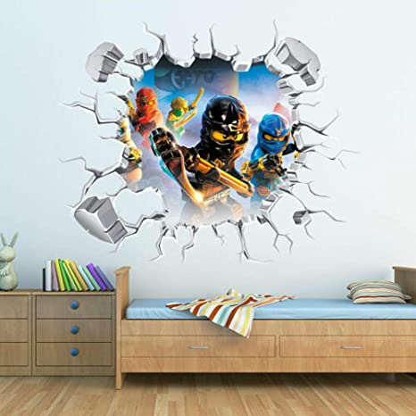 Lego Movie Reusable Wall Stickers Kids Bedroom Decals Remove /& Reuse