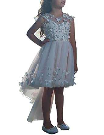 MuchXi Hi-Lo Flower Girl Dresses First Communion Party Gown Pageant Dress 2- 12