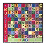 Flagship Carpets FE102-26A Multiply and Divide Rug, A Great Resource for Math Games and Activities, Children's Classroom Educational Carpet, 6' x 6', 72'' Length, 72'' Width, Multi-Color