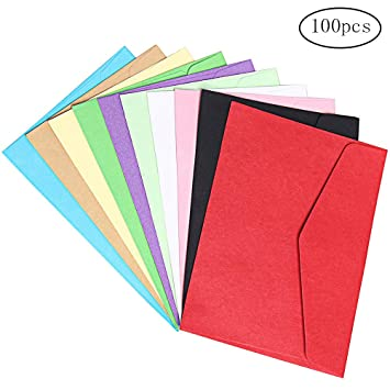 Borte 100 Pices Enveloppes Colores 118 Cm Enveloppe Multicolore Mini Pour Carte