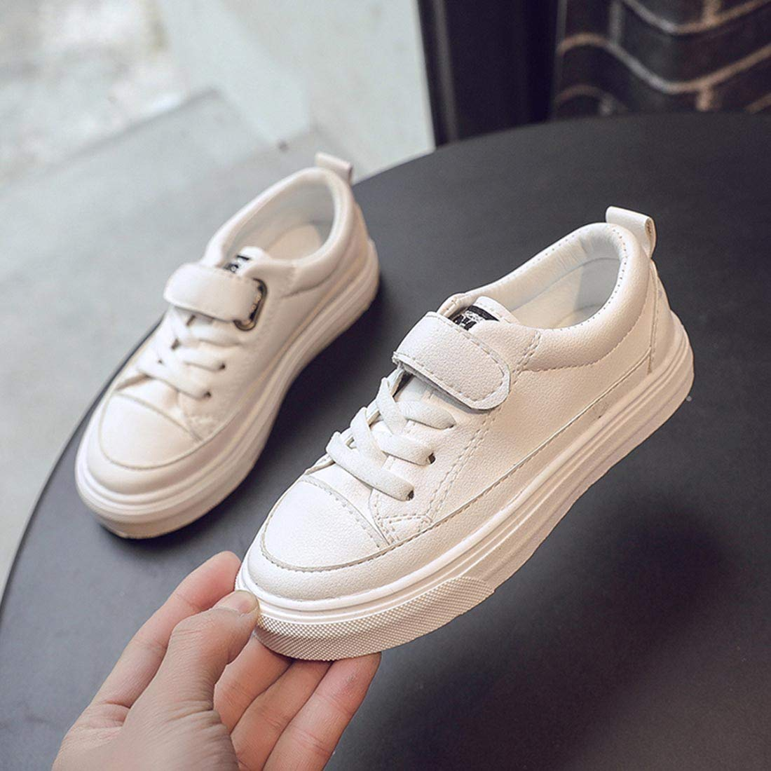 YIBLBOX Unisex Kids Boys Girls Low-Top Sneakers Pumps Trainers Walking Casual Shoes